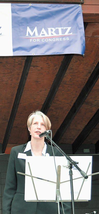 Democratic congressional candidate Emily Martz  (Enterprise photo — Antonio Olivero)