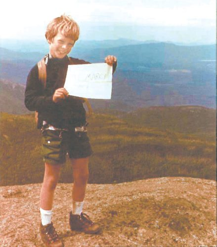 Eight-year-old Christopher Wray stands on the summit of Mount Marcy on Aug. 20, 1975. President Donald Trump has nominated Wray to be FBI director. (Photo provided by the Wray family)