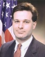 Christopher Wray is pictured when he worked for the U.S. Department of Justice under President George W. Bush between 2003 and 2005.