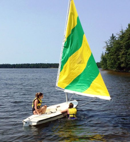 Sailing is one of the activities offered at Lake Clear Camp. (Photo provided — Daniella Nordin, Lake Clear Camp)