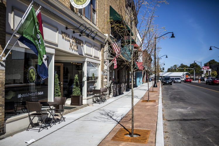 Park Street will be the location of the Tupper Lake street festival where residents and tourists will celebrate the road's new look. (Photo courtesy of ROOST)