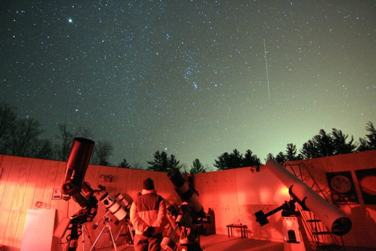 The night's sky is seen above the Adirondack Public Observatory in Tupper Lake. (Photo provided — Marc Staves)