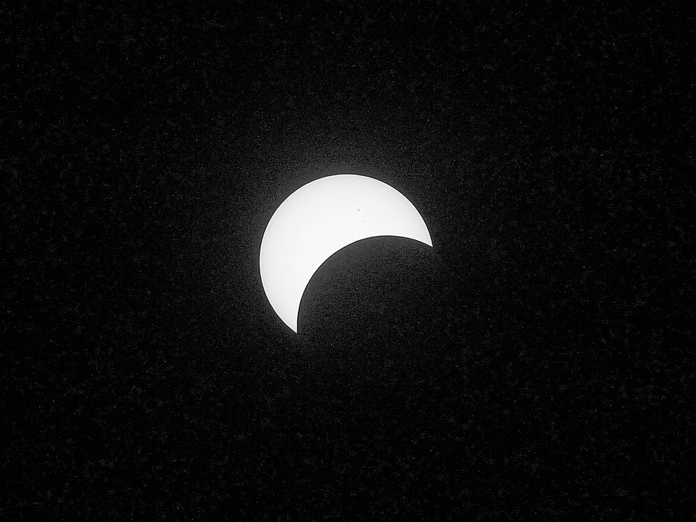 "The first total eclipse over the U.S. mainland since 1979 will be visible in 62 percent magnitude from the Adirondacks, turning the sun into a ""solar crescent.""  (Photo provided)"