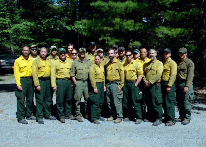 A crew of New York State Department of Environmental Conservation firefighters returned after a two-week stint battling a nearly 14,000-acre wildfire in Montana. (Photo provided by DEC)