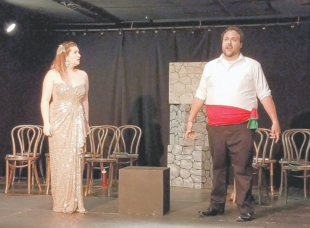 """Natalie Polito, as Mabel, and Jordan Schreiner, as Frederic, sing of their love in """"The Pirates of Penzance."""" (Photo provided)"""