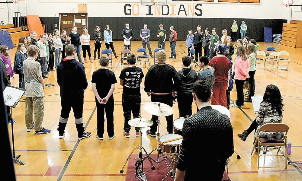 High school students take part in an event in the Indian Lake Central School gymnasium last year. (Photo provided)