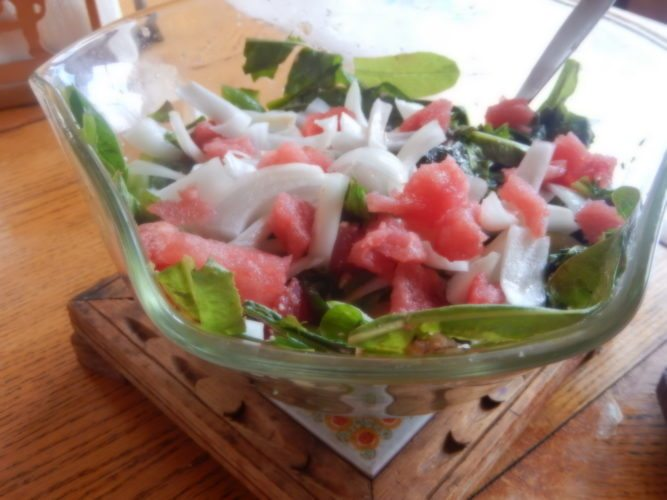 Watermelon salad (Photo provided — Yvona Fast)