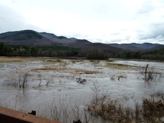 """Keene Lake"" at the base of Spruce Hill in Keene, reappeared for several days after Tropical Storm Irene ripped through the area in 2011. (Provided photo — Joe Hackett)"