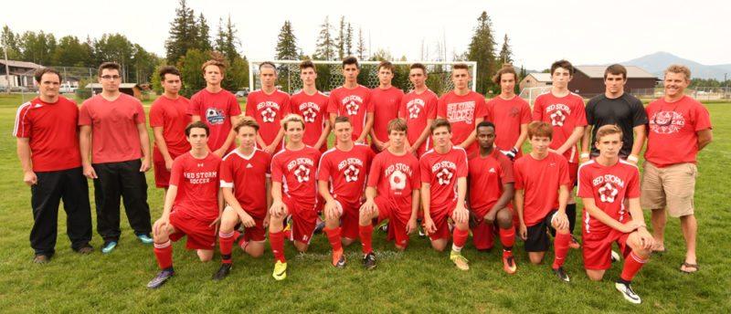 Saranac Lake boys soccer (Enterprise photo — Lou Reuter)