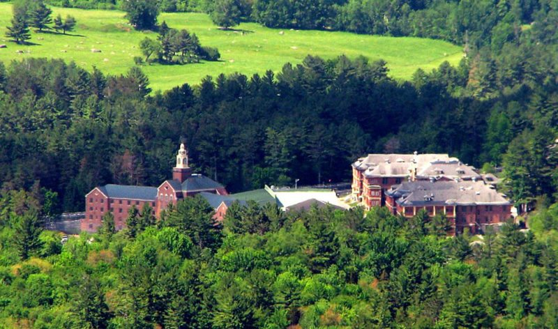 Adirondack Correctional Facility in Ray Brook, seen from Haystack Mountain, looks remarkably unchanged from its origin as a state tuberculosis hospital. The state will convert the medium-security men's prison to a juvenile detention center to accommodate a new law that raises the age of criminal responsibility from 16 to 18. (Photo provided — Marc Wanner, Historic Saranac Lake)