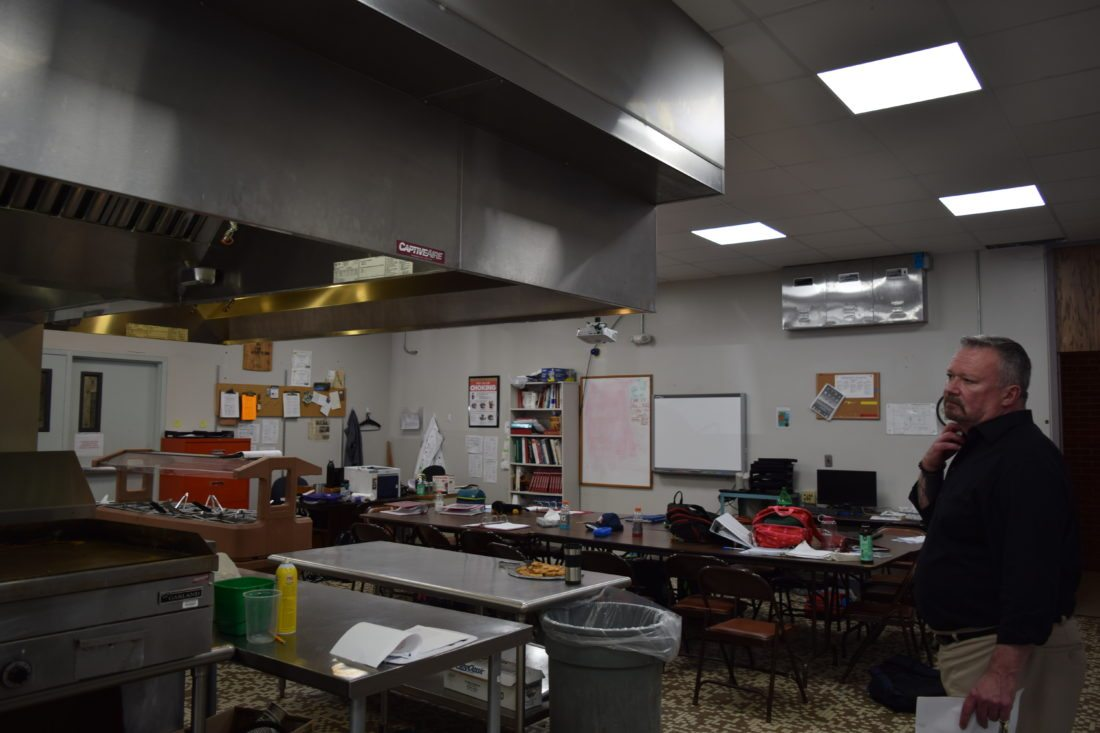 Principal Rick Swanston in the Culinary Arts kitchen at FEH-BOCES. If the capital project is approved on Sept. 21, a new deli space will be added so students have a place to sample the products of their work. (Enterprise photo — Glynis Hart)