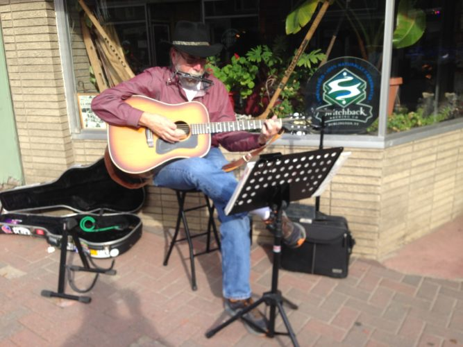 Rocky Richardson performs during the Saranac Lake Third Thursday Art Walk. (Photo provided)