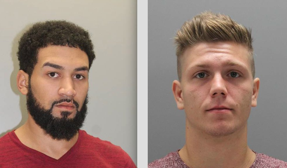 Michael Johnson of Saranac Lake, left, and Sabbath McGregor of Chase Mills (Photos provided by Plattsburgh Police Department)