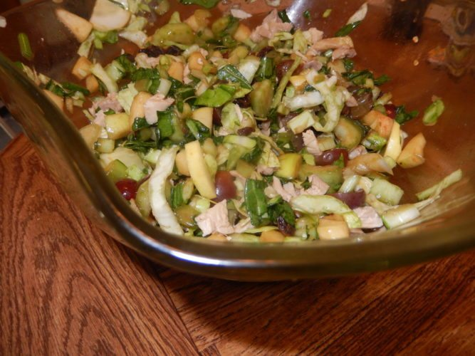 Oriental Cabbage, apple and chicken salad (Photo provided — Yvona Fast)