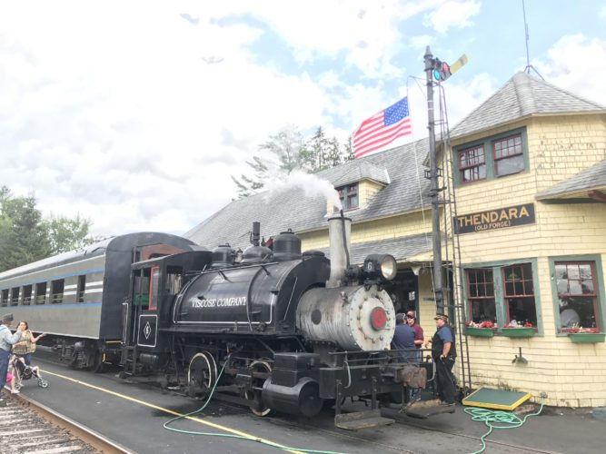 Steam engine Viscose No. 6 is seen Aug. 12 at Thendara. (Photo provided by Larry Roth)