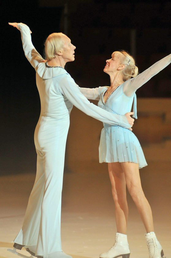 "Ludmila and Oleg Protopopov perform during the ""Tribute to the Protopopovs"" show in September 2011, on the 1980 Rink of the Olympic Center in Lake Placid.  (Photo provided)"