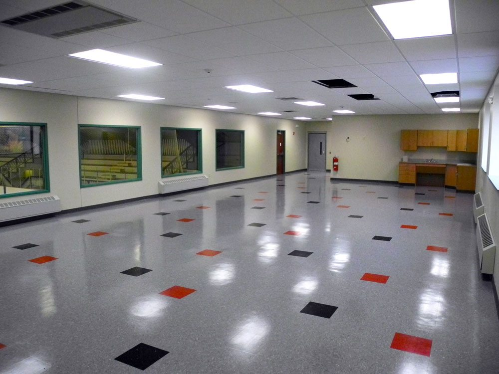 This large room is in the Tupper Lake Memorial Civic Center's new second-floor mezzanine. (Enterprise photo — Aaron Cerbone)