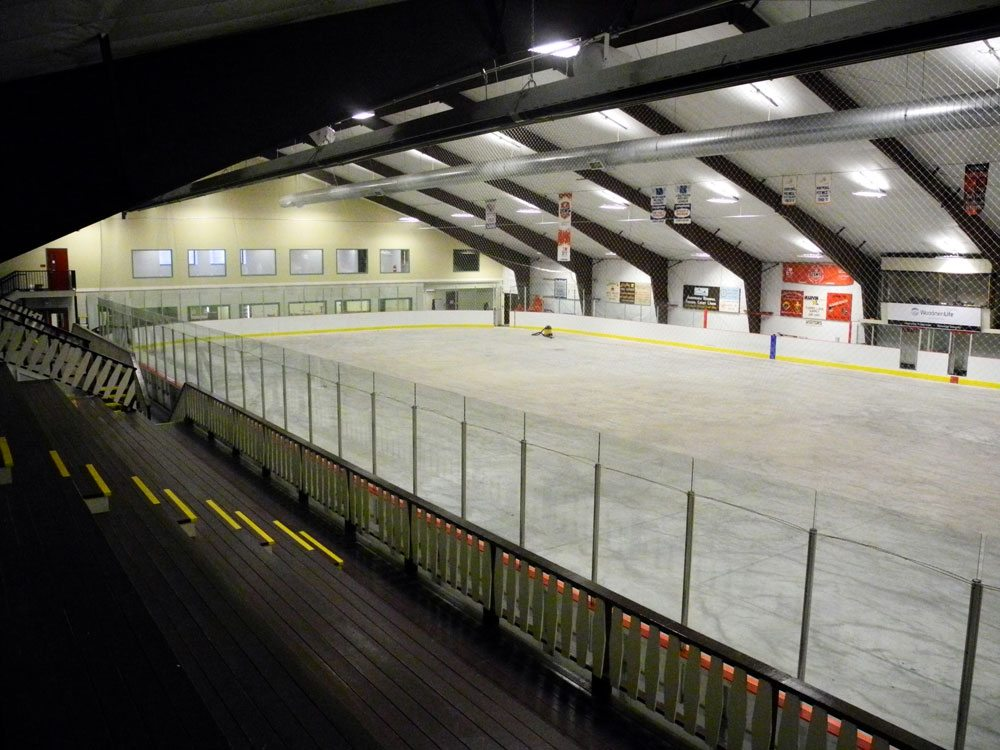 The renovated Tupper Lake Memorial Civic Center is seen Monday. (Enterprise photo — Aaron Cerbone)