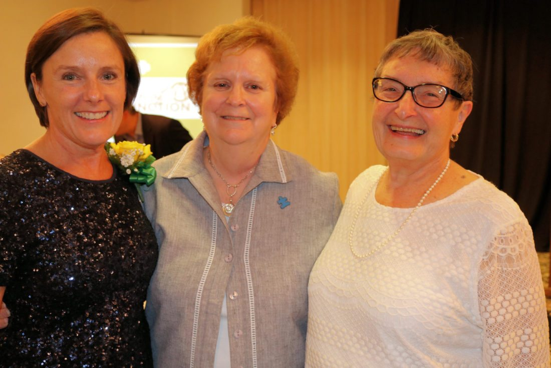 Franklin County Legislature Chairwoman Barbara Rice of Saranac Lake was recognized by the Girl Scouts of Northeastern New York in a ceremony Sept. 21 in Plattsburgh with the Distinguished Trailblazer award. Pictured, from left, are Barb Rice, former Assemblywoman Janet Duprey and Gail Rogers Rice (Barbara's mother and the 2007 recipient of the Trailblazer award). (Photo provided)