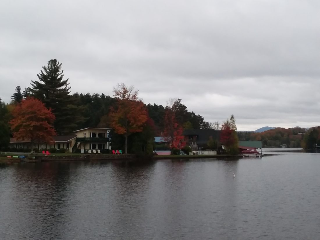 The Adirondack Motel, left, Lake Side Motel, center, and Lake Flower Inn, off camera to the left, sit on the site where developers plan to build the Lake Flower Resort. (Enterprise photo — Glynis Hart)