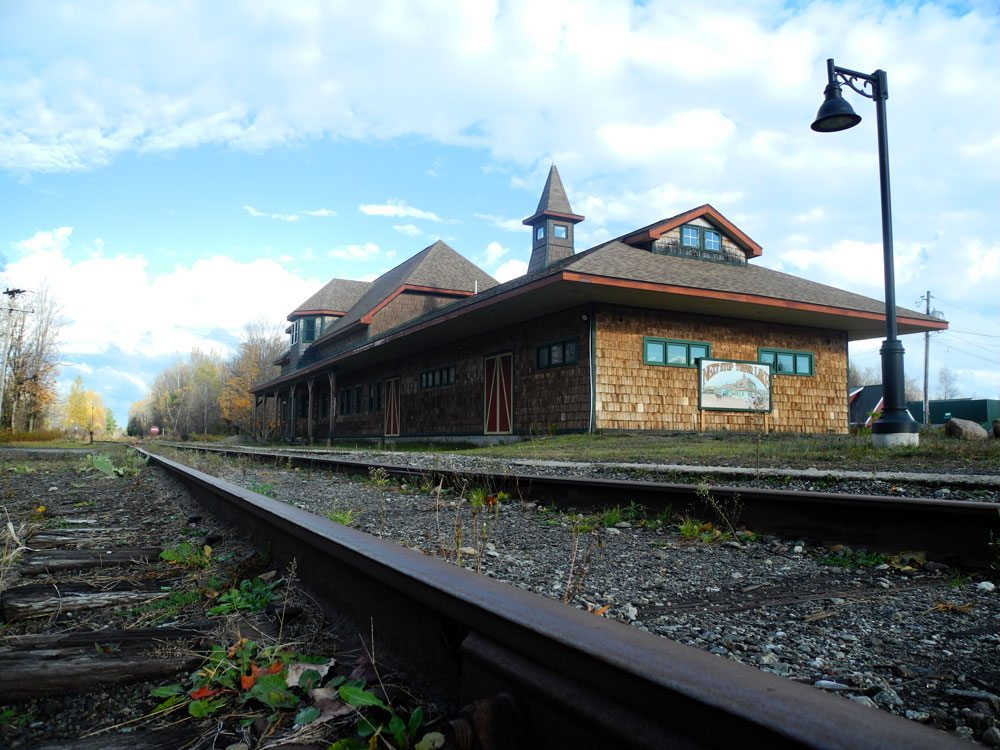 Members of the Adirondack Scenic Railroad are making plans to bring trains to Tupper Lake's rebuilt station. (Enterprise photo — Aaron Cerbone)