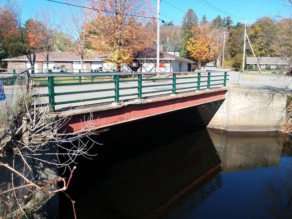 """The Woodruff Street bridge in the village of Saranac Lake is deemed """"structurally deficient.""""  (Enterprise photo — Glynis Hart)"""