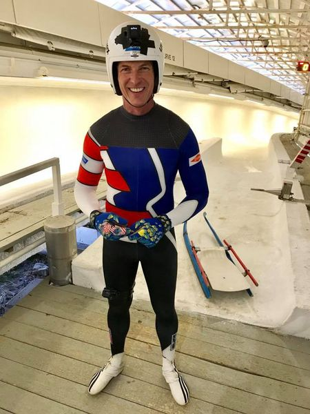 Brian Curtis recently rode a luge sled for the first time in about 27 years at the Mount Van Hoevenberg sliding track. (Photo provided — NBC5)