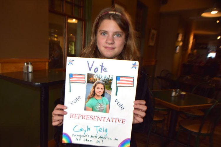 Cayla Teig spent the weekend learning about the political system by attending Camp Congress for Girls with her mother in Boston. (Photo provided — Jordanna Mallach)