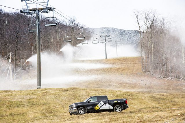Snow guns start up for the first day of the winter season Tuesday at Whiteface Mountain Ski Center in Wilmington. The state Olympic Development Authority runs the ski area.  (Photo provided by ORDA)