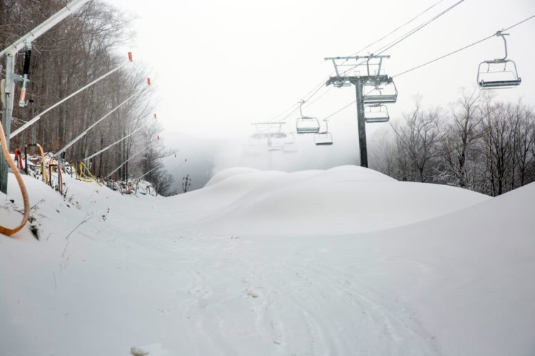Whiteface Mountain Ski Center in Wilmington makes snow on Monday. (Photo provided by ORDA)