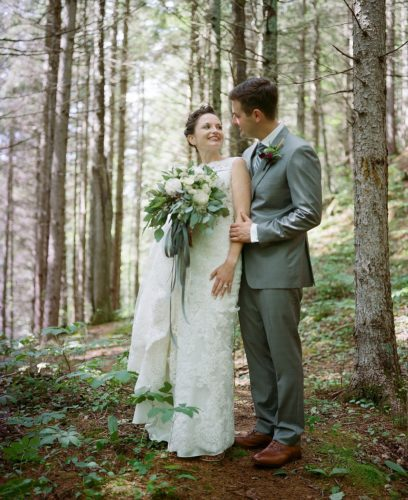 Craig and Nikki Motz were married this summer in Lake Placid. Henry Liebers found a roll of their wedding photos while hiking along South Meadow Road. (Photo provided — Lawrence Braun)