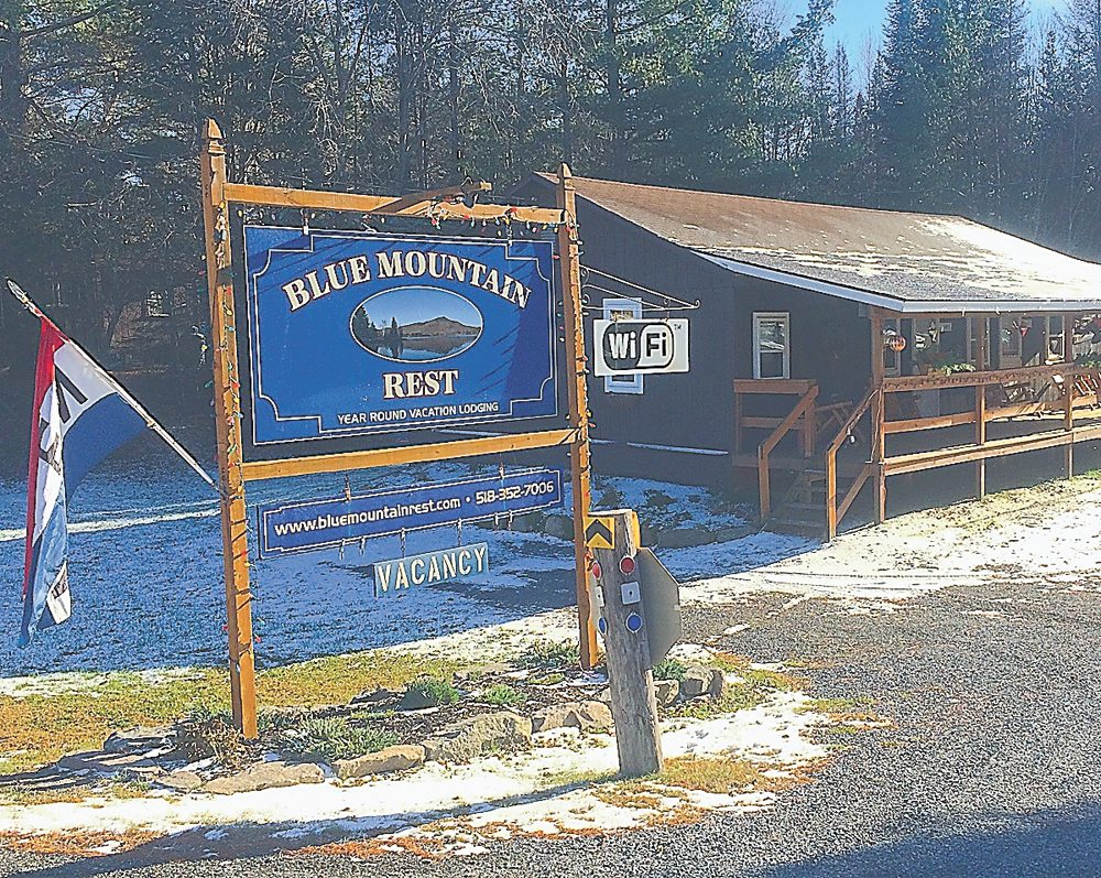 Blue Mountain Rest is on state Route 28, before entering the hamlet of Blue Mountain Lake from the south. (Photo provided — Bill Quinlivan)