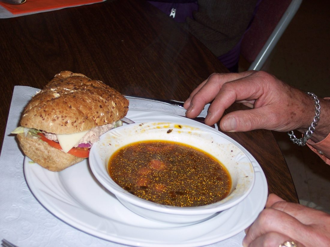Soup and sandwich  (Photo provided — Yvona Fast)