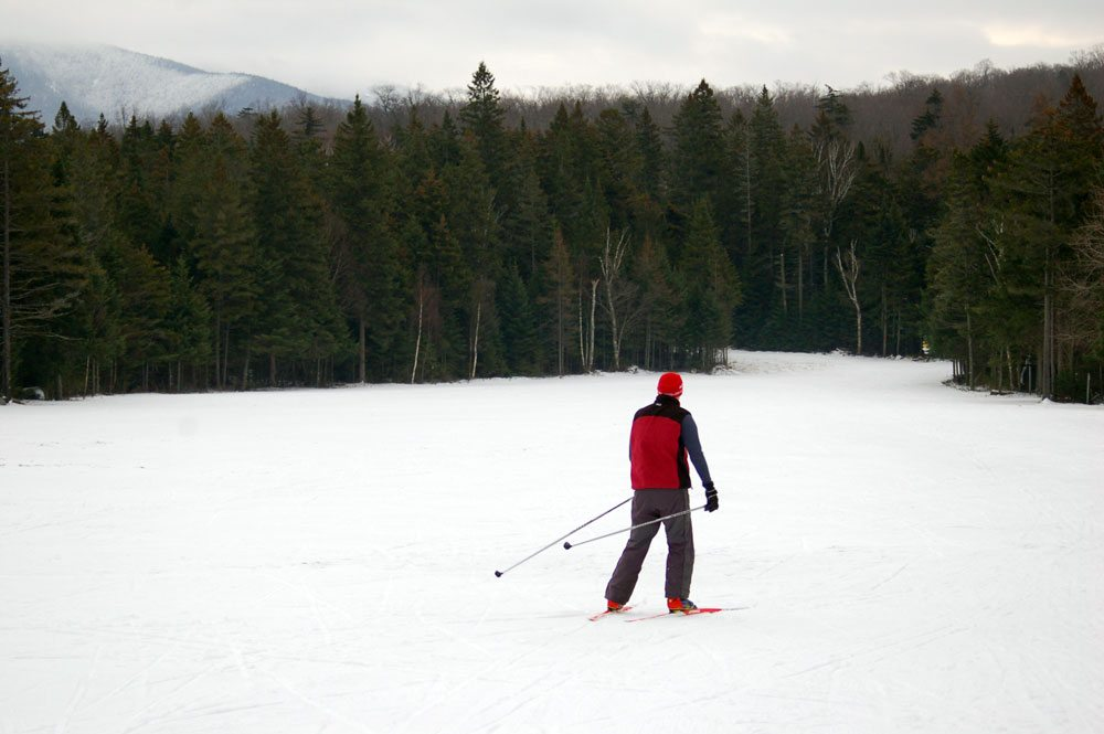 The state Olympic Regional Development Authority's Michael Battisti tries out the groomed ski trails at Mount Van Hoevenberg on Dec. 2, 2013, another year when the facility opened earlier than usual — Nov. 29 that year. (Enterprise photo — Andy Flynn)