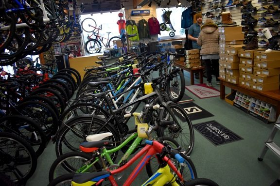 For brick-and-mortar stores in Lake Placid such as High Peaks Cyclery, Black Friday isn't so much the biggest day of the year as a starting point to the winter and holiday seasons. Small Business Saturday is the day many local business owners look forward to.  (Enterprise photo — Griffin Kelly)