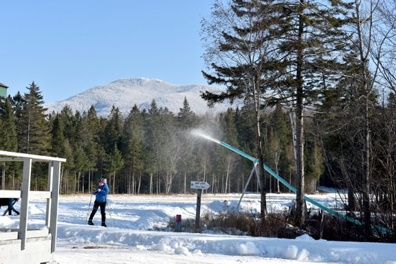 The Snowfactory at Mount Van Hoevenberg Cross Country and Biathlon Center converts 11 gallons of water in to snow per minute. (Enterprise photo — Griffin Kelly)