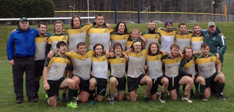 The Paul Smith's College rugby team poses for a photo following a 6-5 victory over Alfred University on Sunday, Nov. 19. The Bobcats finished with a 7-3 overall record. (Photo provided)