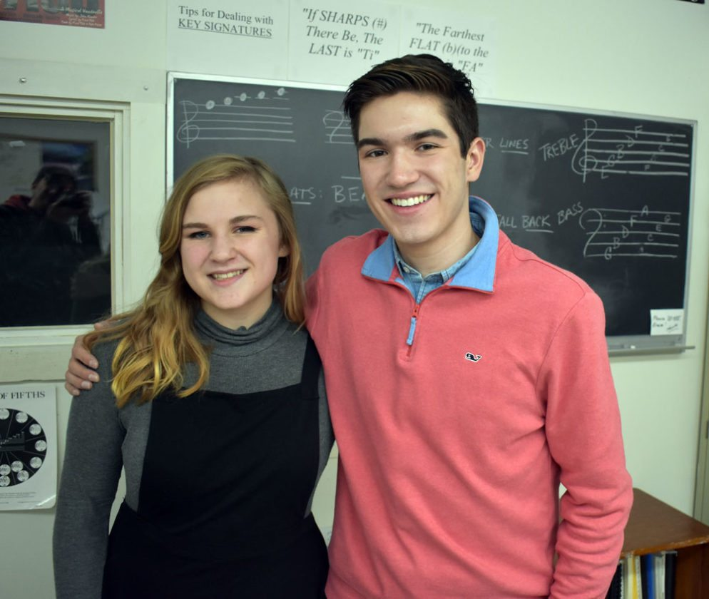 Mary Keating, Left, And Louis Catania Of Saranac Lake High School Will  Perform In The New York State School Music Association Conference All State  This ...