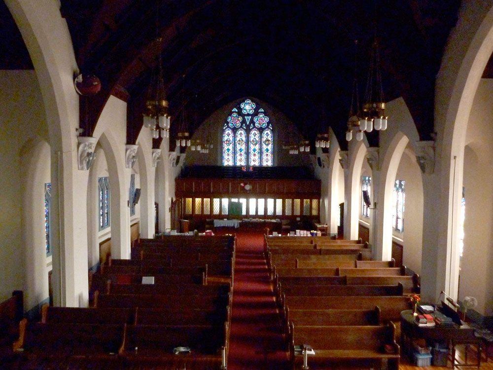 First United Methodist Church in Saranac Lake is seen from the choir loft. (Enterprise photo — Peter Crowley)