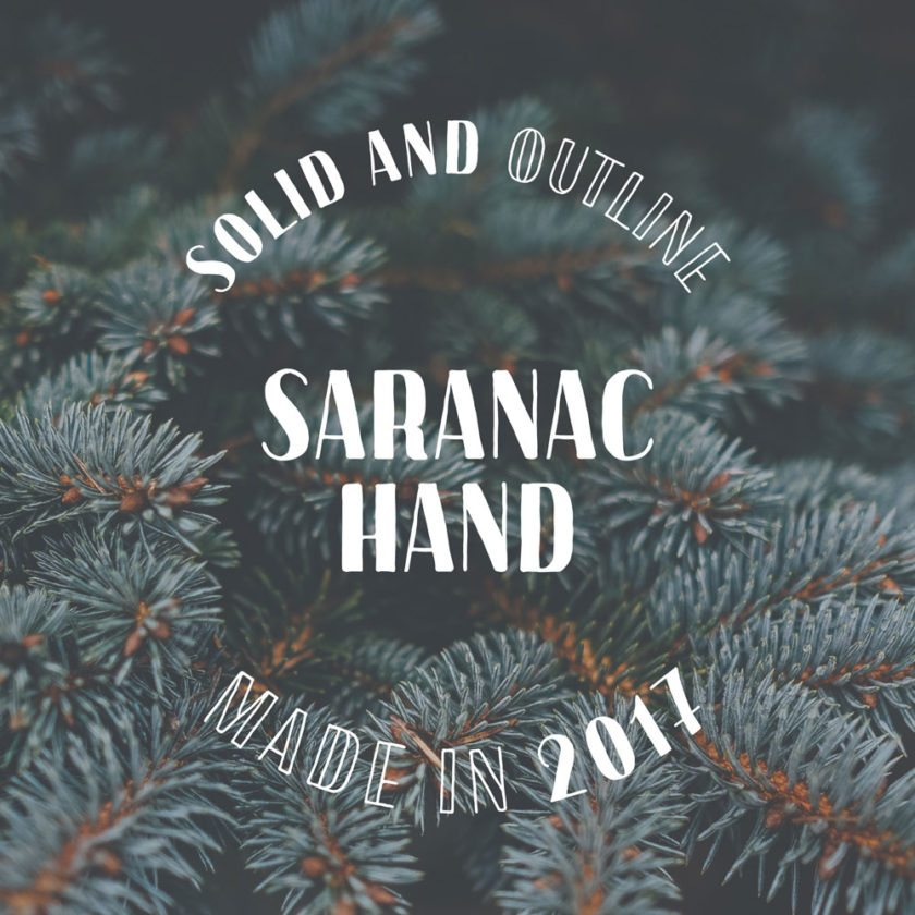 This font, called Saranac Hand, was created by Thomas McAuliffe and inspired by Saranac Lake. (Image provided — Thomas McAuliffe)