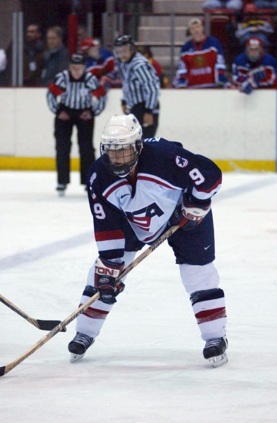 Andrea Kilbourne-Hill competes for Team USA in 2001 in preparation for the 2002 Olympic Games in Salt Lake City, where the Americans won the silver medal. Kilbourne-Hill will head the PaulSmith's College women's hockey program that is set to start in 2018. (Enterprise file photo)