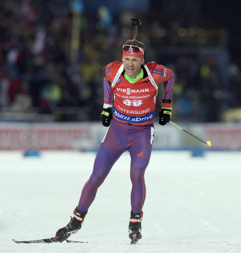 Lowell Bailey competes in Sunday's 12.5-kilometer pursuit at the IBU World Cup 1 in Oestersund, Sweden.  (Provided photo —  NordicFocus/U.S. Biathlon)