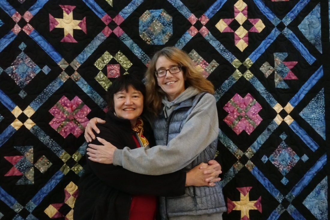 Beth Gallagher, a highly respected professional quilter, donated a gorgeous quilt to benefit Northern Lights Choir.  Raffle tickets will be available before the concert and during intermission $3. A ticket or two for $5.  You will not want to miss a chance to win this heirloom of a quilt. Gallagher is pictured with Choir Director Helen Demong.  (Photo provided)