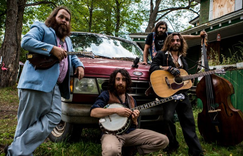 The Blind Owl Band's mandolin player, Eric Munley, operates the Waterhole in Saranac Lake. This weekend they will host a two-day musical event called the Odd Ball. (Photo provided)