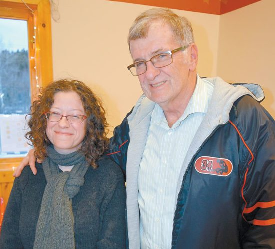 Amanda Dagley and Bill Dickerson are the new owners of the WNBZ-FM radio station. Both formerly worked for WIRY in Plattsburgh. (Enterprise photo — Glynis Hart)