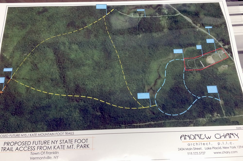Proposed foot trails in Kate Mountain Park in Vermontville (Enterprise photo — Justin A. Levine)