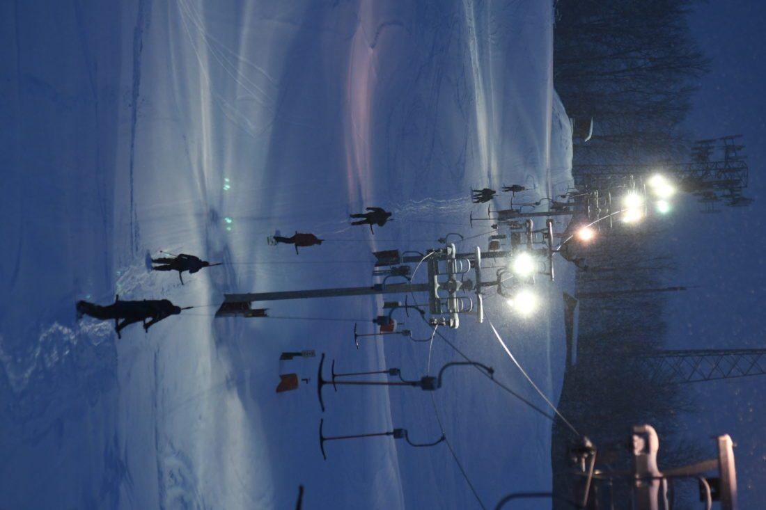 Riders take the T-bar to the top of Mount Pisgah. (Enterprise photo — Lou Reuter)
