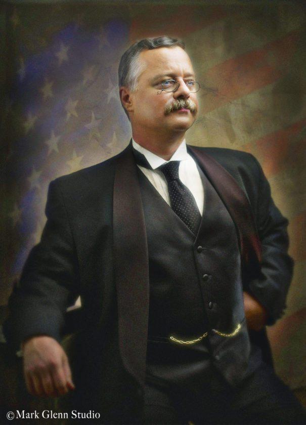 Joe Wiegand, a Teddy Roosevelt impersonator