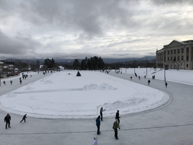 Hitting the ice at the Olympic Speedskating Oval in LakePlacid (Photo provided — Diane Chase)