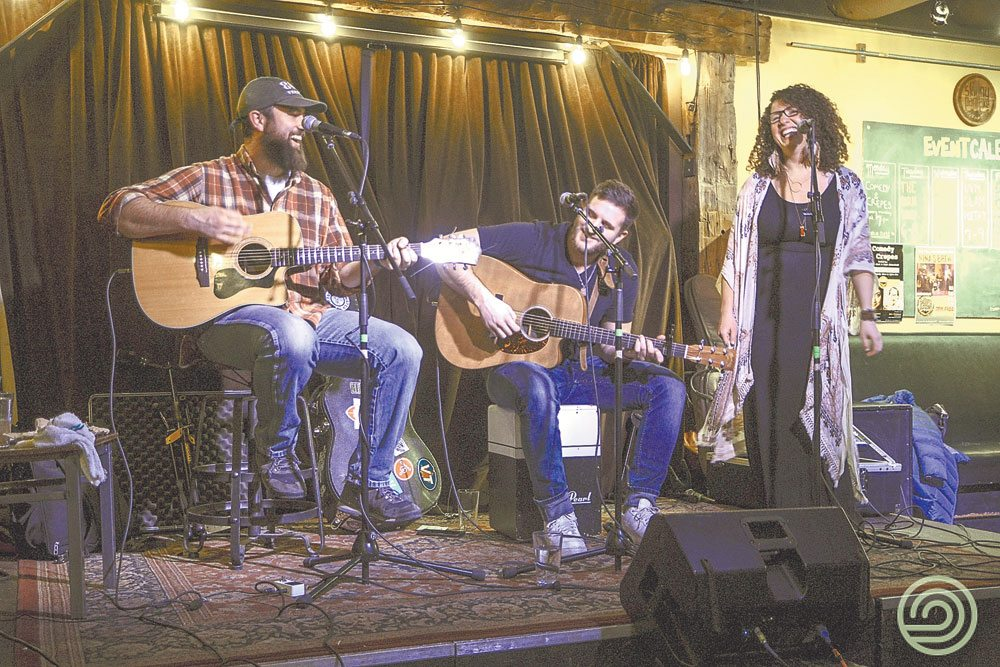 From left, Mike Brewster, Issac French and Giovanina Bucci make up the R&B trio Nina's Brew. They will open for Annie in the Water at the Waterhole Upstairs Music Lounge in Saranac Lake at 8 p.m. Sunday, Dec 31. (Photo provided by Hannah Cormier)